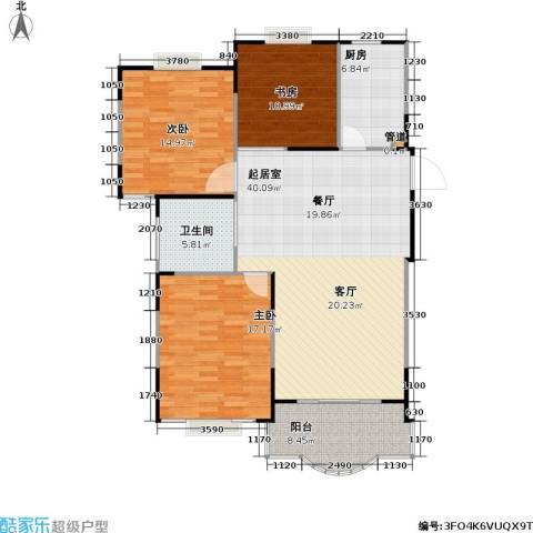 天馨花园八――十二期3室0厅1卫1厨111.00㎡户型图