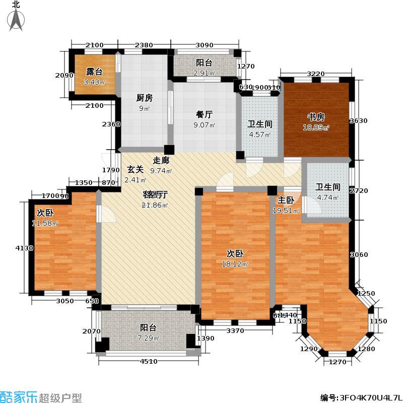 当代清水园二期160.00㎡房型: 四房; 面积段: 160 -194 平方米; 户型