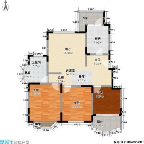 住友宝莲花园三期3室0厅1卫1厨110.00㎡户型图