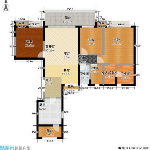 瑞安重庆天地雍江苑3室1厅3卫1厨164.00㎡户型图
