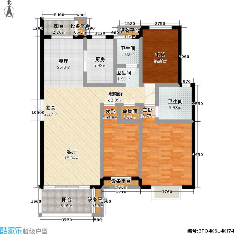春申万科城二期126.00㎡房型: 三房; 面积段: 126 -126 平方米; 户型