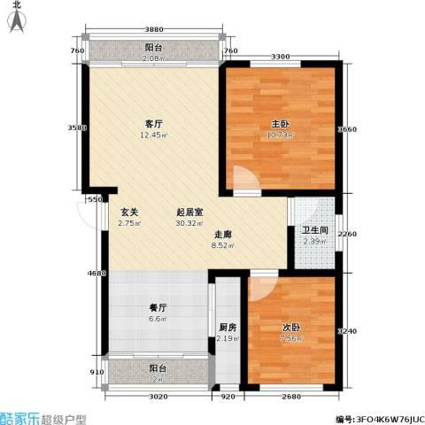 杨浦欣园商业2室0厅1卫1厨82.00㎡户型图