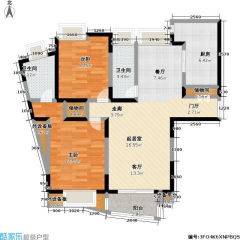 金沙雅苑(三期)2室0厅2卫1厨82.00㎡户型图