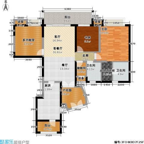 瑞安重庆天地雍江苑2室1厅2卫1厨172.00㎡户型图