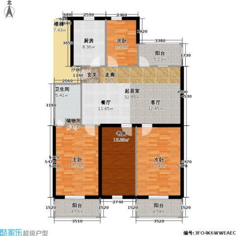 仙霞沈家新苑4室0厅1卫1厨117.50㎡户型图