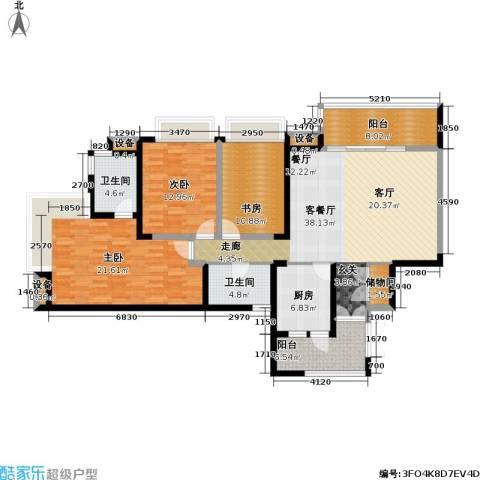 瑞安重庆天地雍江苑3室1厅2卫1厨169.00㎡户型图