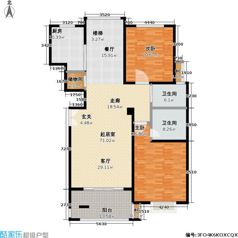 虹桥东苑东块181.00㎡房型: 复式; 面积段: 181 -240 平方米;户型
