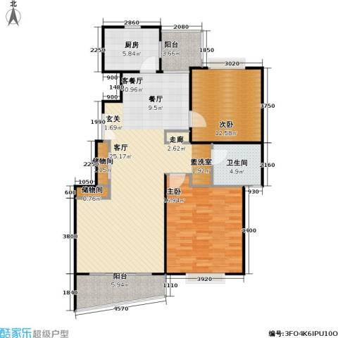 金丰新村西块2室1厅1卫1厨100.00㎡户型图