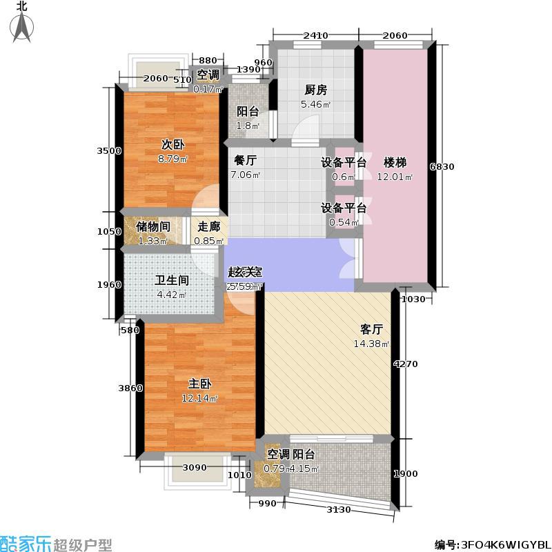 建德花园一期95.00㎡房型: 二房; 面积段: 95 -112 平方米; 户型