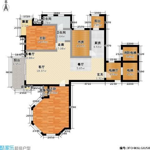 心海假日视界20083室1厅1卫0厨182.00㎡户型图