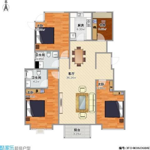 香醍溪岸4室1厅2卫1厨138.00㎡户型图