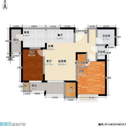 和风雅致2室0厅2卫1厨96.00㎡户型图