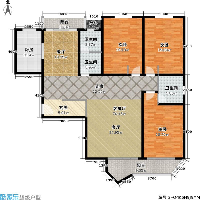 梅龙镇广场户型3室1厅3卫1厨