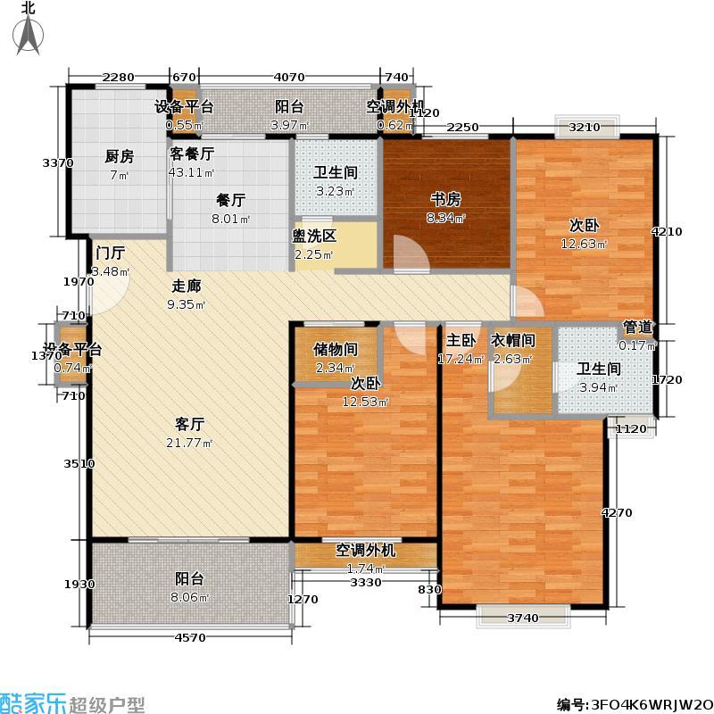 锦绣江南家园四期房型户型4室1厅2卫1厨