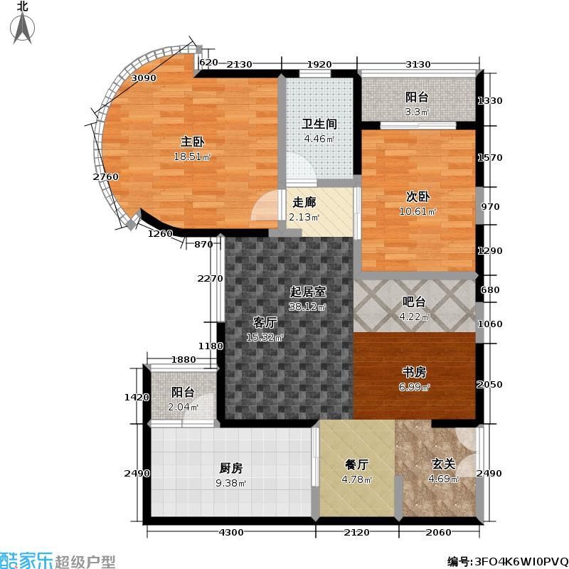 秋水云庐(二期)房型户型2室1卫1厨