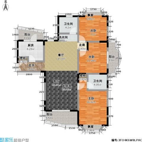 新理想家园一期3室0厅2卫1厨132.00㎡户型图