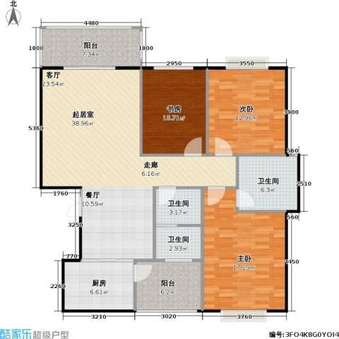 锦天・生态城3室0厅3卫1厨132.00㎡户型图