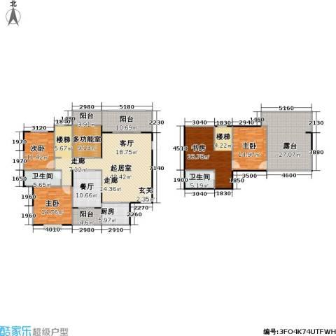 一品名门云墅4室1厅2卫1厨211.00㎡户型图