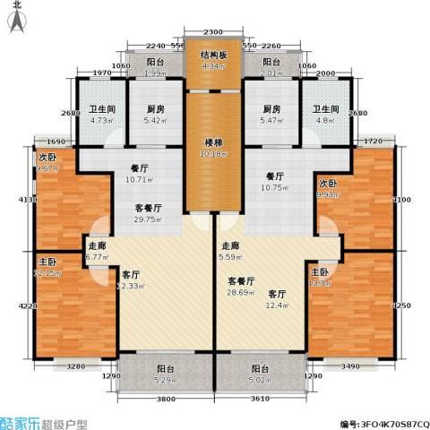 金都花好悦园五期4室2厅2卫2厨152.74㎡户型图
