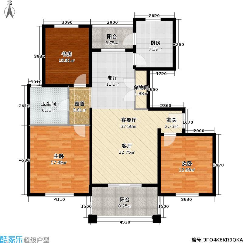 夏朵小城(绿岛方洲)户型3室1厅1卫1厨