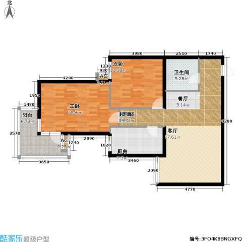 泰和园2室0厅1卫1厨97.00㎡户型图