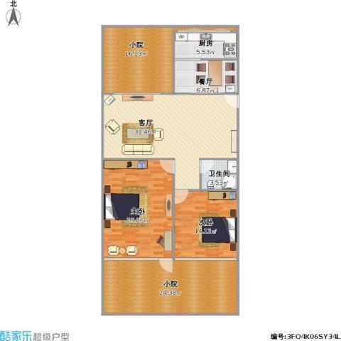金龙公寓2室2厅1卫1厨167.00㎡户型图
