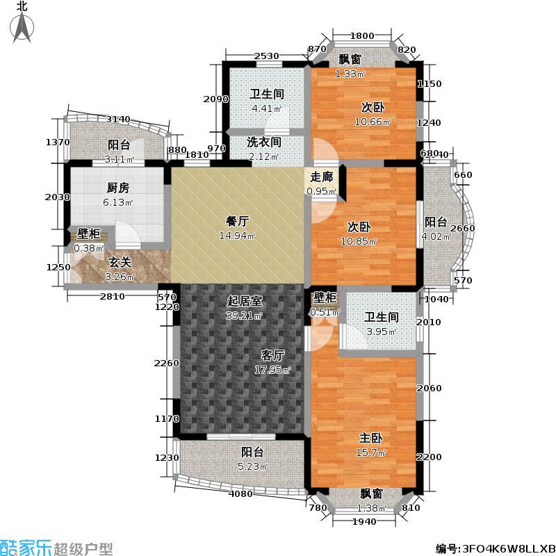 新理想家园一期132.07㎡房型: 三房; 面积段: 132.07 -141.3 平方米;户型