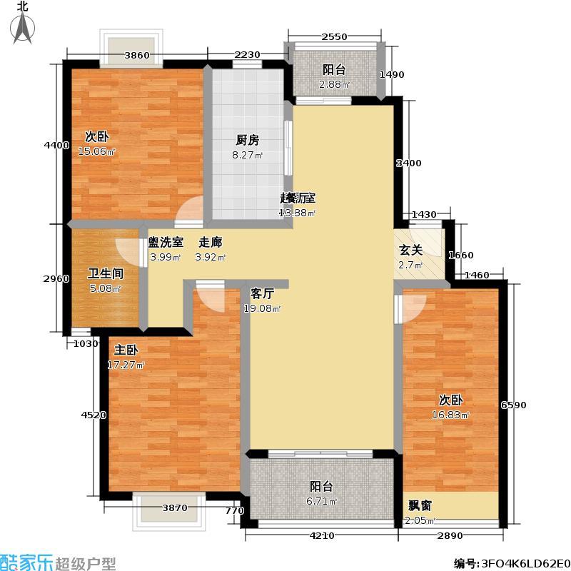 好世凤凰城二期129.00㎡房型: 三房; 面积段: 129 -130 平方米; 户型