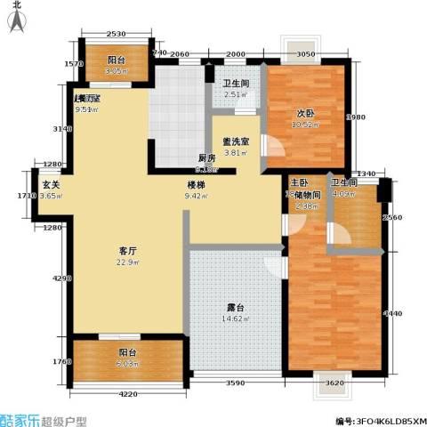 好世凤凰城二期2室0厅2卫0厨129.00㎡户型图