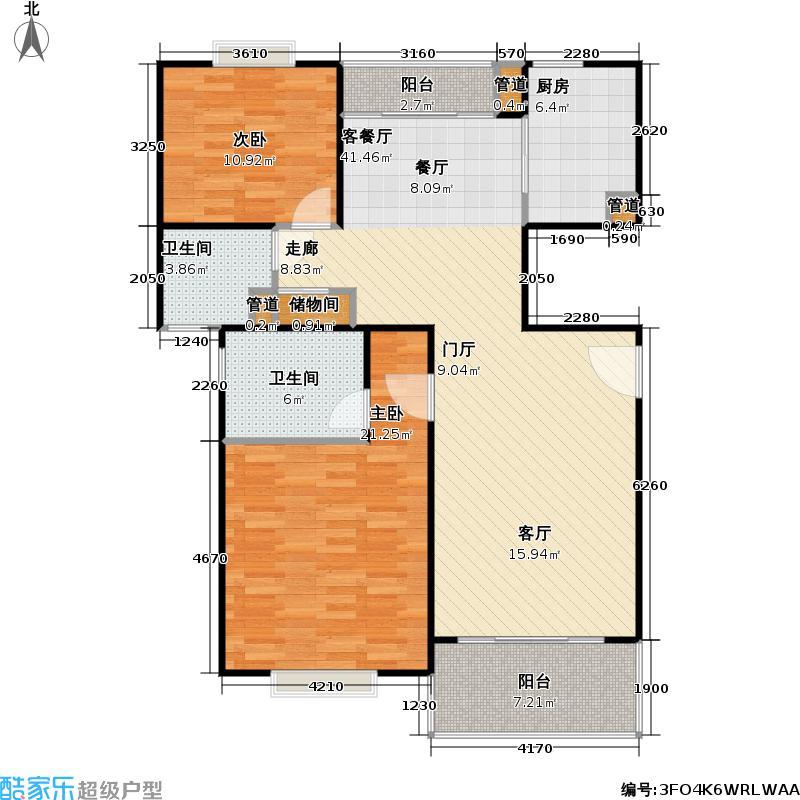 恒盛苑房型户型2室1厅2卫1厨