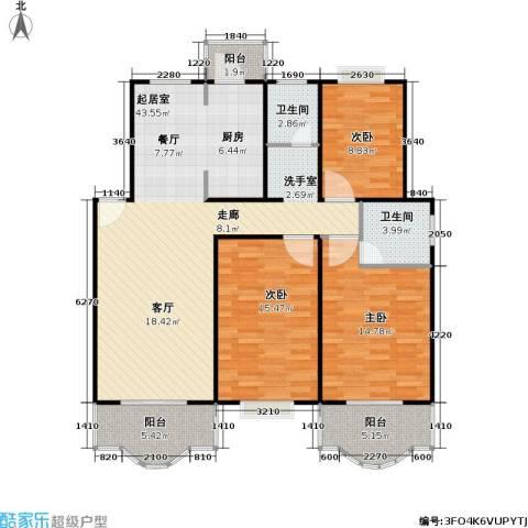 天馨花园八――十二期3室0厅2卫0厨110.00㎡户型图