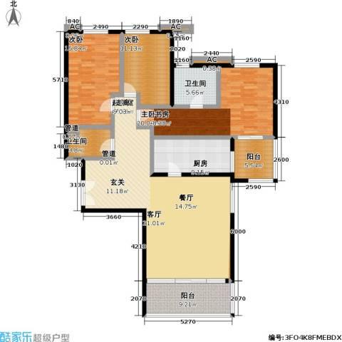 境界・水晶城3室0厅2卫1厨149.00㎡户型图