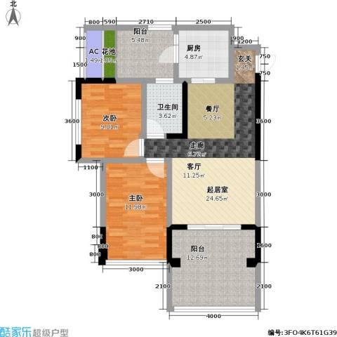 金科蚂蚁SOHO二代2室0厅1卫1厨109.00㎡户型图