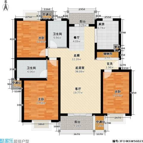 紫晶南园一期3室0厅2卫1厨161.00㎡户型图