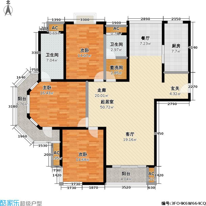 上海大花园三期145.00㎡房型LL
