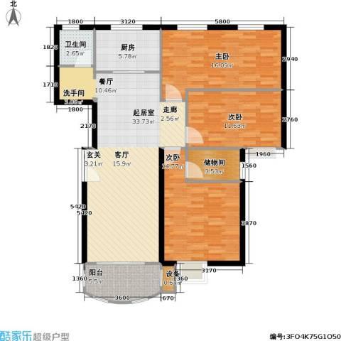 兴华童话世界3室0厅1卫1厨131.00㎡户型图