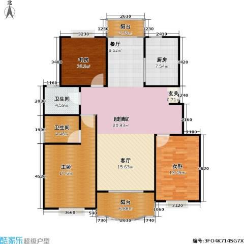 松江世纪新城3室0厅2卫1厨121.00㎡户型图