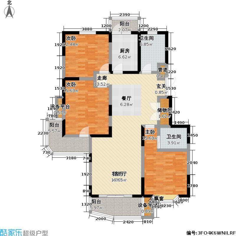 通联苑房型户型3室1厅2卫1厨