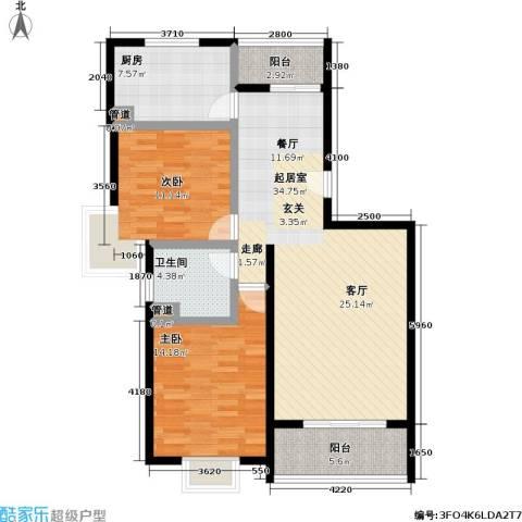 好世凤凰城二期2室0厅1卫1厨94.00㎡户型图