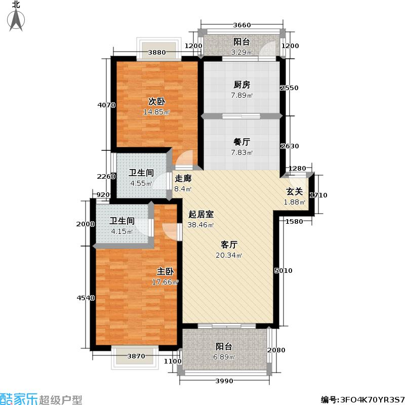 黄兴花园77.23㎡房型: 二房; 面积段: 77.23 -112 平方米;户型