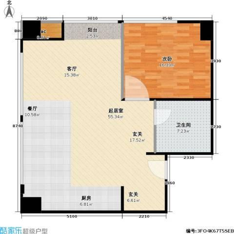 新湖印象江南二期1室0厅1卫0厨96.00㎡户型图