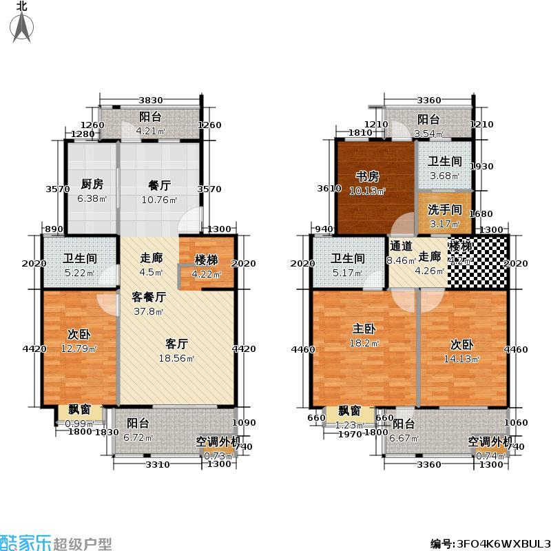 正阳世纪星城二期房型: 复式; 面积段: 140 -269 平方米; 户型