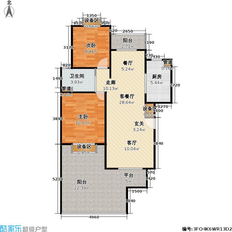 阳光神州苑81.05㎡房型: 二房; 面积段: 81.05 -96.94 平方米; 户型