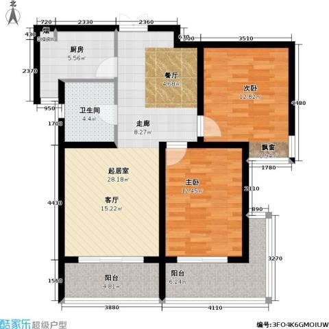复地翠微新城(三期)2室0厅1卫1厨90.00㎡户型图