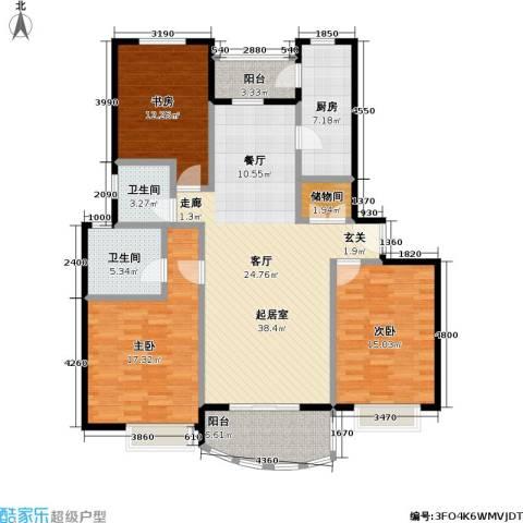 东方名筑-馥园3室0厅2卫1厨110.69㎡户型图