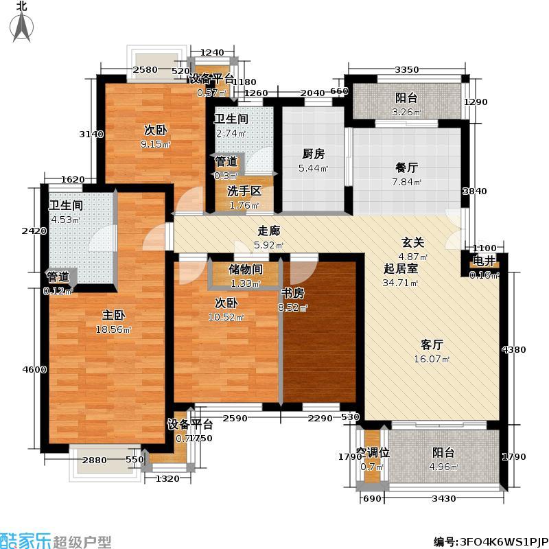 东兰兴城三期房型复式户型4室2卫1厨