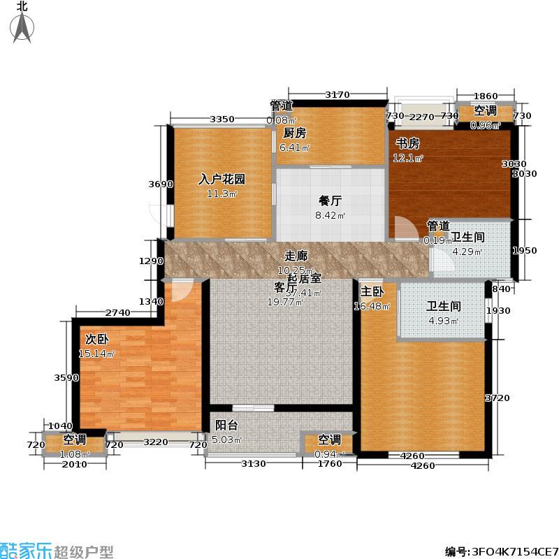 上海奥林匹克花园130.00㎡房型: 三房; 面积段: 130 -140 平方米; 户型