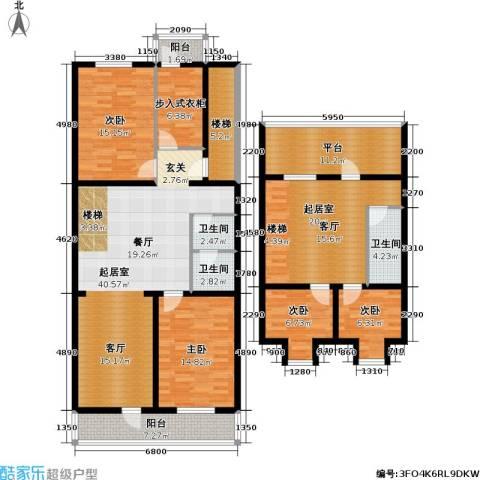 新明胡同住宅4室0厅3卫0厨167.00㎡户型图