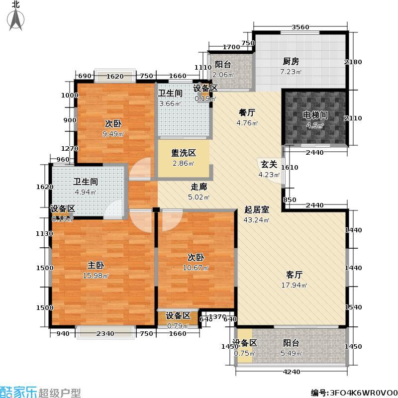 阳光神州苑109.36㎡房型: 三房; 面积段: 109.36 -118.34 平方米; 户型