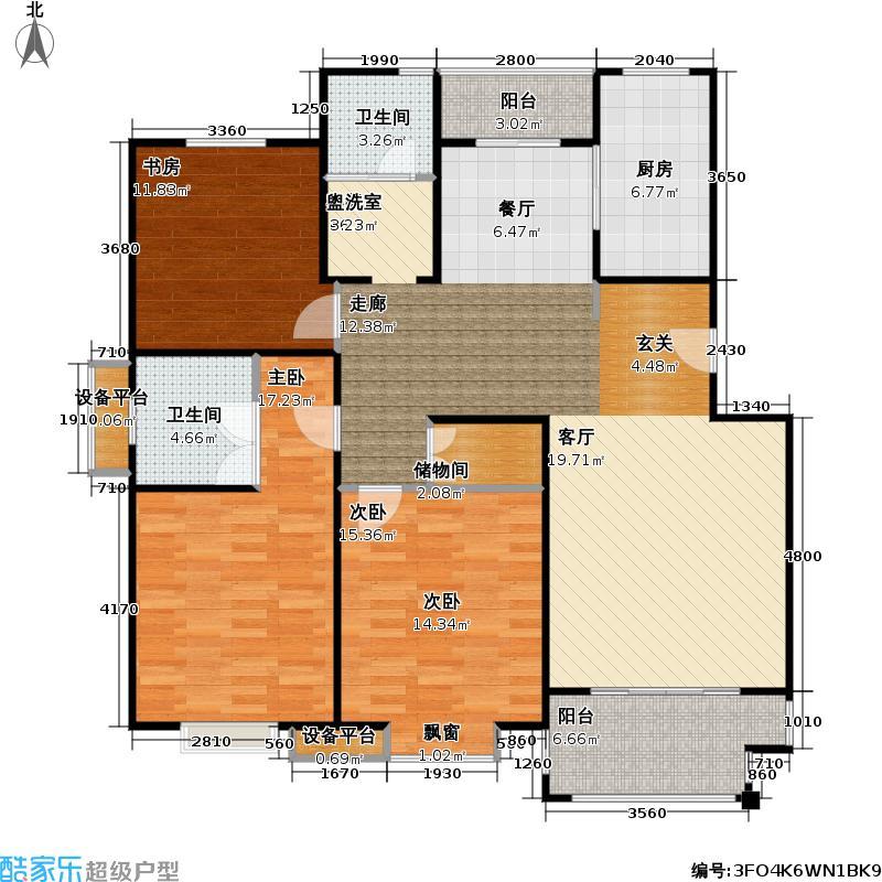 东方佳苑128.00㎡房型: 三房; 面积段: 128 -128 平方米;户型